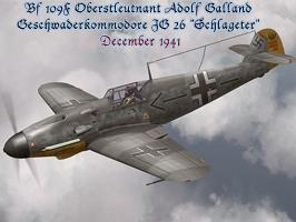 Bf 109F Adolf Galland MG 131