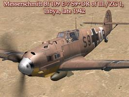 Bf 109E-7 S9+DR of III./ZG 1