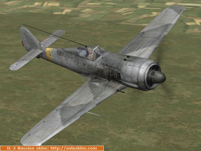 Unmarked generic skins FW-190F-2 (in-game A5)