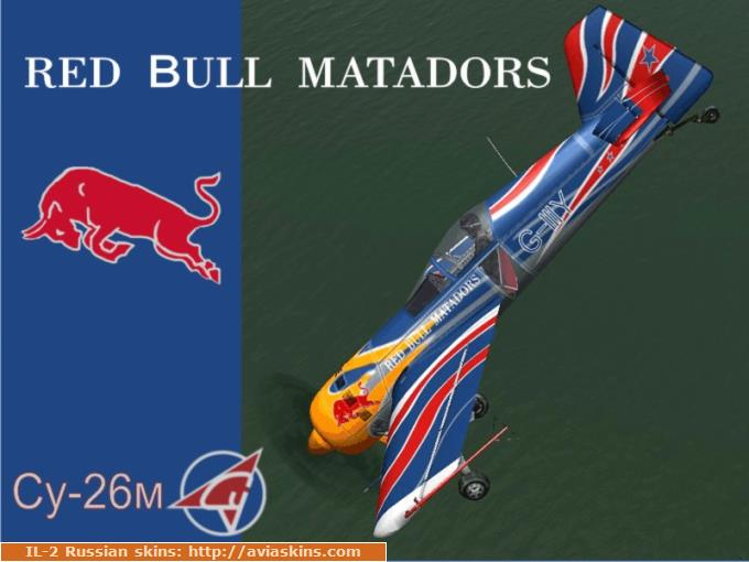 "Su-26м aerobatic team   "" RED  BULL  MATADORS """