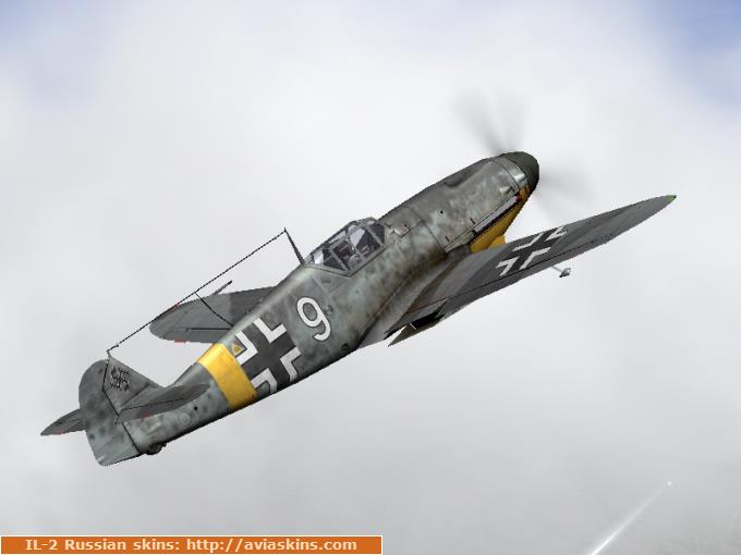 Bf-109G-2 unmarked generic skin