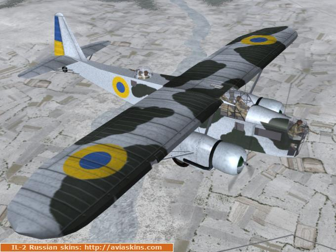 Potez 540/542/543 of Ukrainian Air Force (winter)