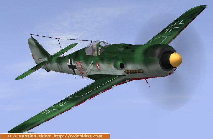 FW-190D-9 JV44 Papagei Staffel red13
